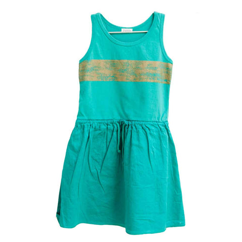 Picnik Barcelona Green Stripe Dress - Yellow Lolly