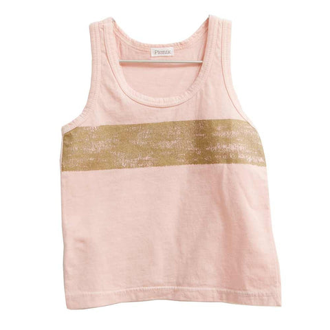 Picnik Barcelona Pink & Gold Vest Top - Yellow Lolly