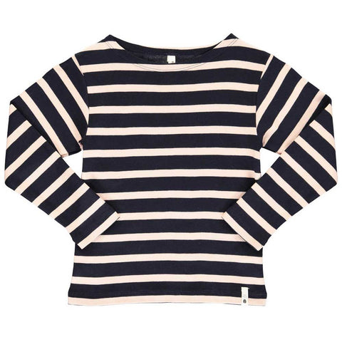 Popupshop Navy Rosa Stripe Long Sleeved T-Shirt AW16