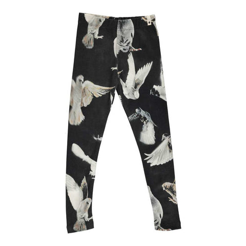 Popupshop AW16 Black Birds Organic Leggings at Yellow Lolly