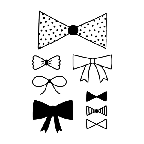 Tattyoo Bow Ties Temporary Kids Tattoos from Yellow Lolly