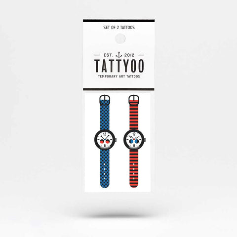 Tattyoo Strange Watch Temporary Kids Tattoos - Packet Image