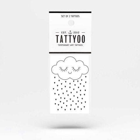 Tattyoo Tenderness Cloud Temporary Kid's Tattoo - Packet Image