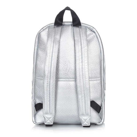 Tiba + Marl - Silver Elwood Baby Backpack (Back view) - Yellow Lolly