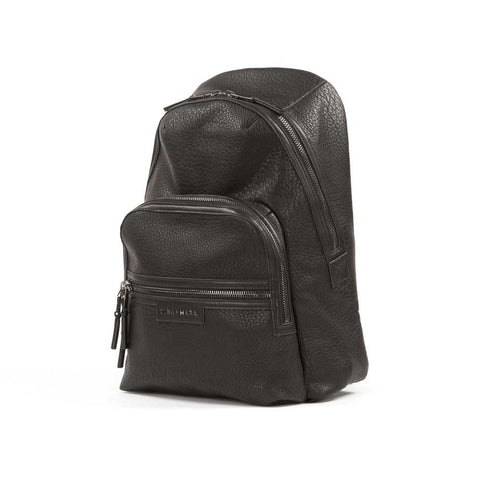 Side view of Tiba + Marl Black Elwood Baby Change Backpack from Yellow Lolly