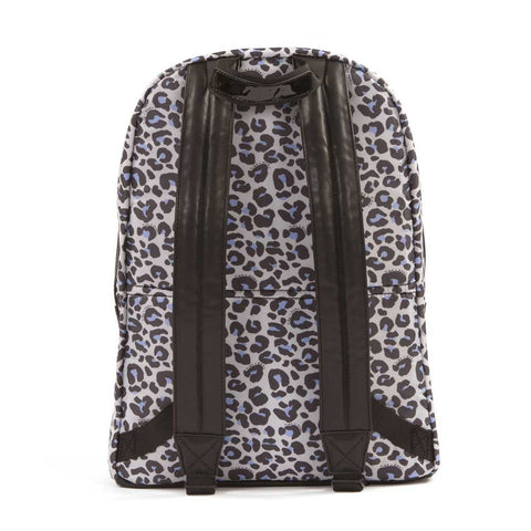 Back of Tiba + Marl Leopard Elwood Baby Change Backpack from Yellow Lolly
