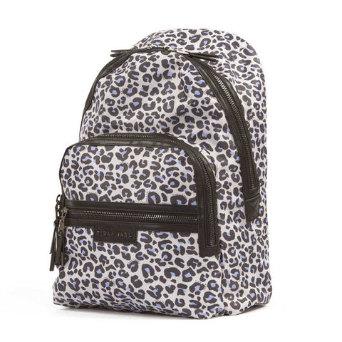 Side view of Tiba + Marl Leopard Elwood Baby Change Backpack from Yellow Lolly