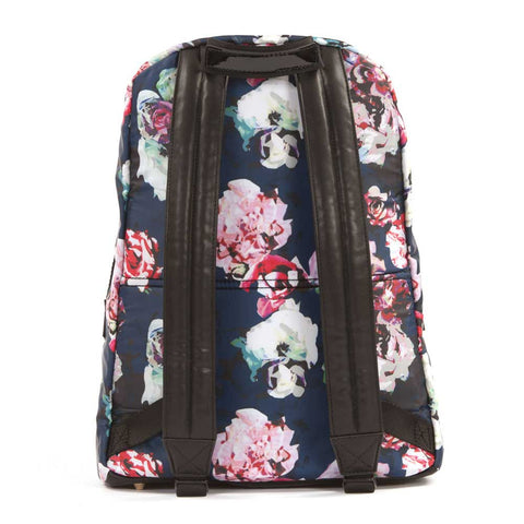 Back view of Yellow Lolly's Tiba + Marl Floral Elwood Baby Change Backpack