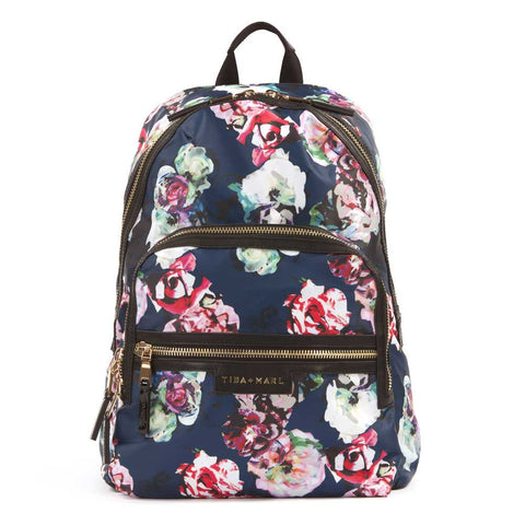 Tiba + Marl Floral Elwood Baby Change Backpack from Yellow Lolly