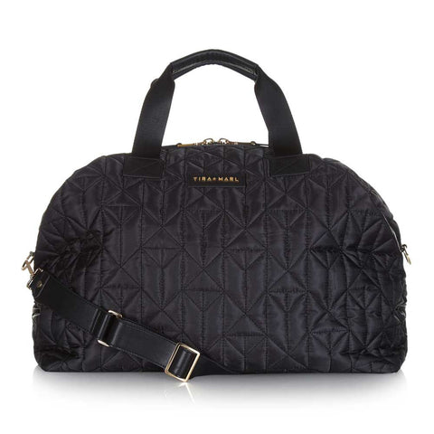 Tiba + Marl Raf Black Holdall Baby Change Bag at Yellow Lolly