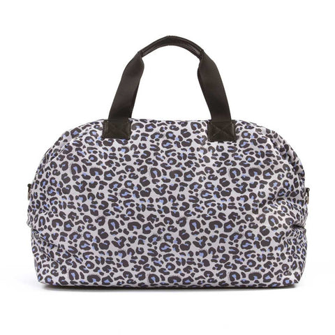 BAck of Tiba + Marl Raf Leopard Holdall Baby Change Bag from Yellow Lolly