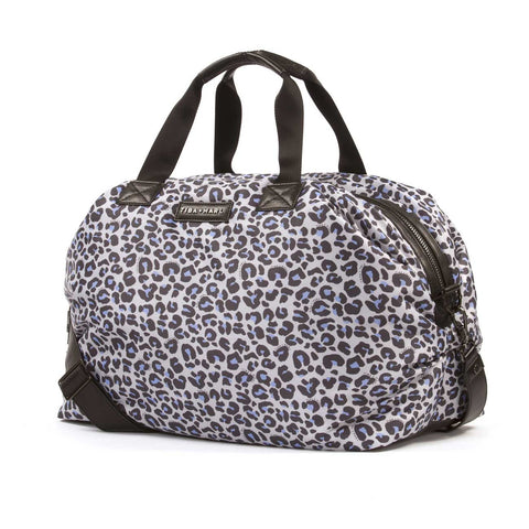 Side view of Tiba + Marl Raf Leopard Holdall Baby Change Bag