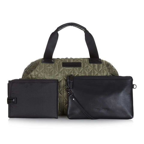 Changing mat and wet pouch/clutch with Tiba + Marl Khaki Mini Raf Holdall Baby Change Bag - Yellow Lolly