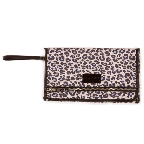 Tiba + Marl Etta Leopard Baby Changing Clutch from Yellow Lolly