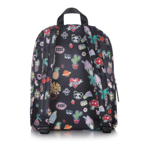 Baxk of Tiba + Marl Sticker Print Mini Elwood Backpack - Yellow Lolly
