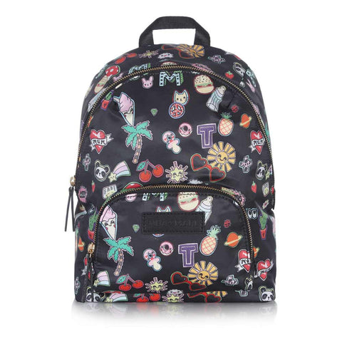 Tiba + Marl Sticker Print Mini Elwood Backpack - Yellow Lolly