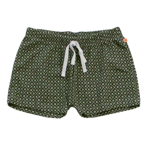 Tinycottons Dark Green Monogram Child's Shorts at Yellow Lolly