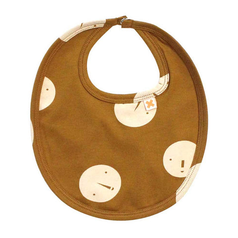 Tinycottons AW16 Brown Faces Organic Baby Dribble Bib