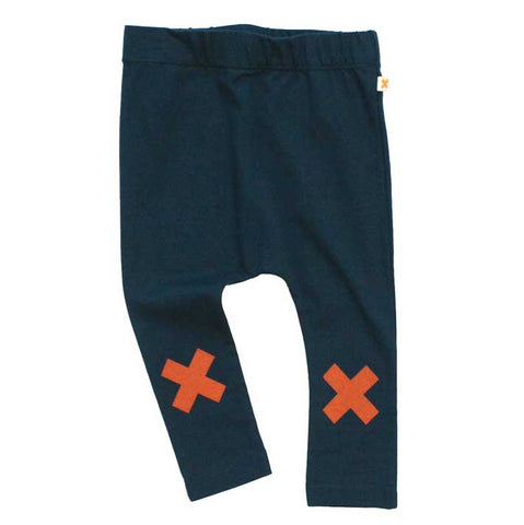 Tinycottons Navy Logo Cotton Leggings
