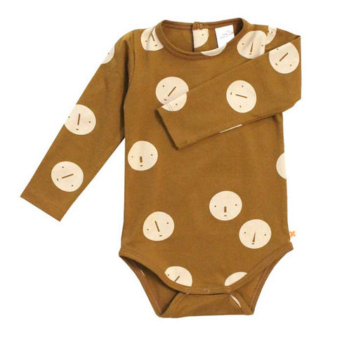 Tinycottons AW16 Faces Organic Cotton Baby Body at Yellow Lolly