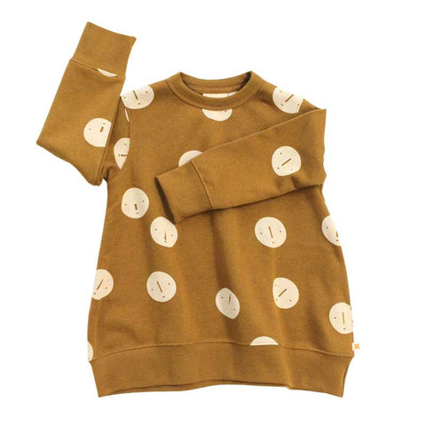 Tinycottons Brown Faces Oversized Sweatshirt at Yellow Lolly