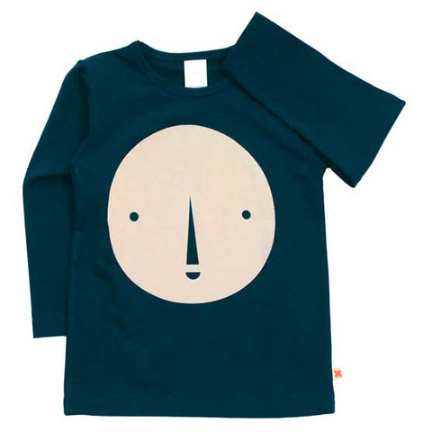 Tinycottons AW16 Navy Round Face Organic Cotton T Shirt