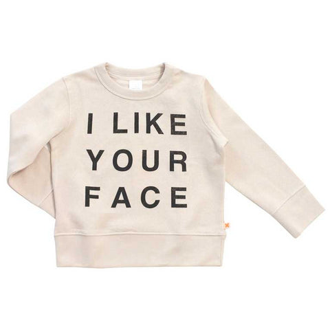 Tinycottons AW16 I like Your Face Organic Cotton Sweatshirt