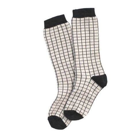 Tinycottons AW16 Grid Mid High Organic Cotton Socks