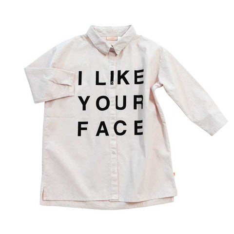 Tinycottons AW16 I Like Your Face Woven Shirt Dress at Yellow Lolly