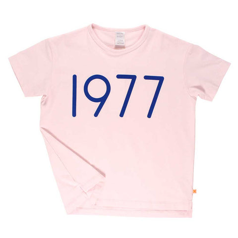 Tinycottons Blush Pink 1977 Overszied Kid's T at Yellow Lolly