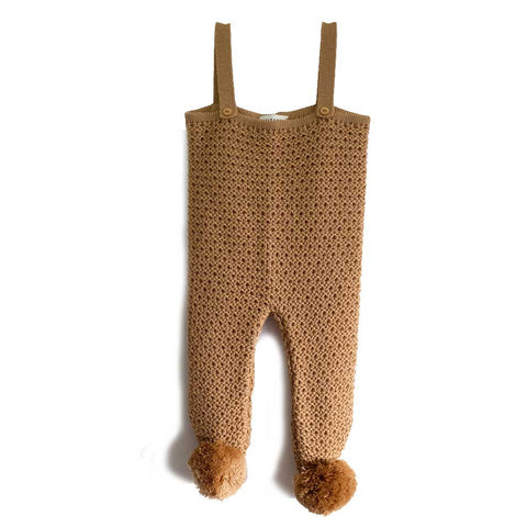 Wolf & Rita Emanuel Camel Knitted Baby Romper - Yellow Lolly