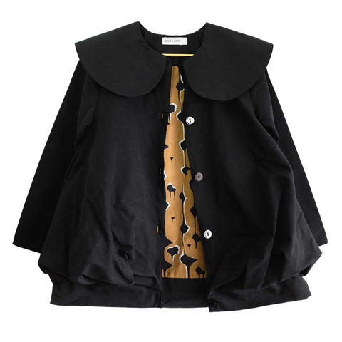 Wolf & Rita Cidalia Black Dress Coat - Yellow Lolly