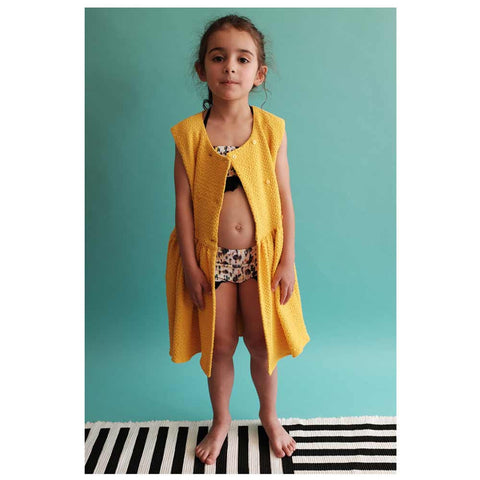 Girl Wearing Wolf & Rita Guadalupe Sunshine Girl's Yellow Dress