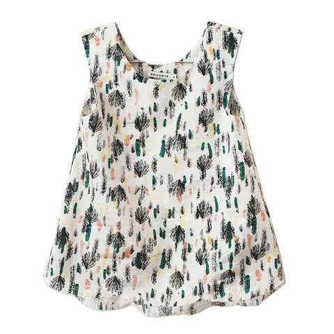 Wolf & Rita Ines Strokes Girl's Sleeveless Blouse at Yellow Lolly