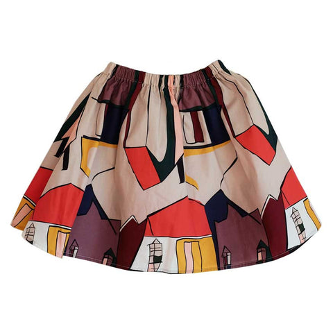 Wolf & Rita Paula Houses Skirt - Yellow Lolly