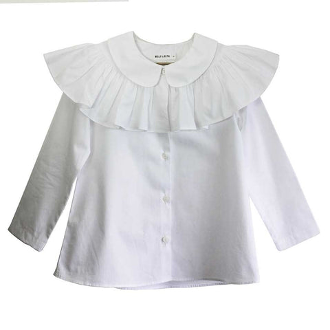 Wolf & Rita Alzira White Blouse - Yellow Lolly