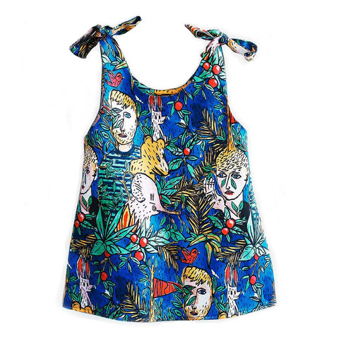 Wolf & Rita Ines Dans La Foret Vest Top - Yellow Lolly