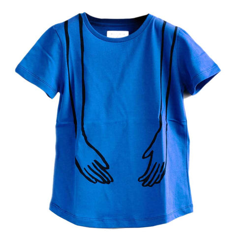 Wolf & Rita Sebastiao Blue Hands T-Shirt - Yellow Lolly