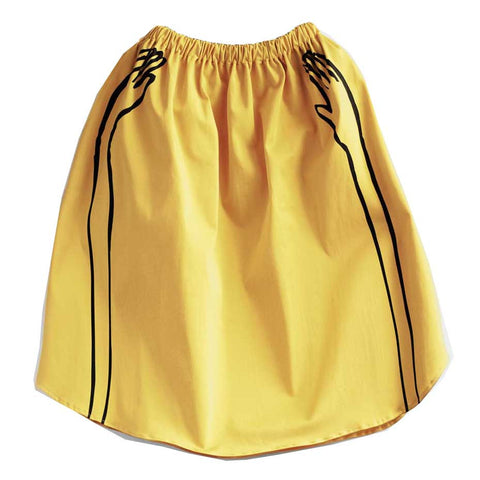 Wolf & Rita Lurdes Yellow Hands Skirt - Yellow Lolly