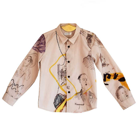 Wolf & Rita Roberto Faces Shirt - Yellow Lolly