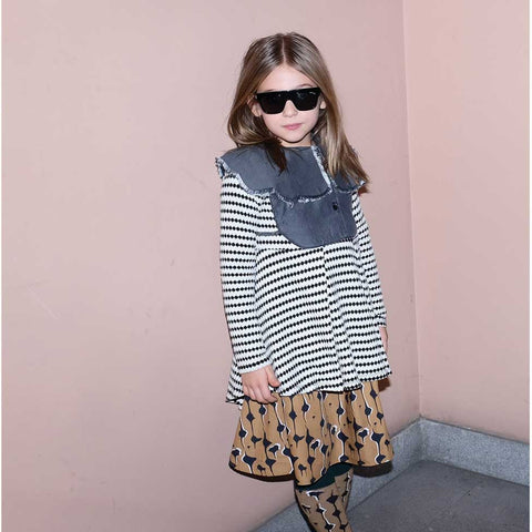 Girl Wearing Wolf & Rita Lilita Dots Top