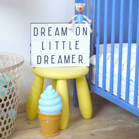 A Little Lovely A4 Light Box Lamp in a Baby's Bedroom