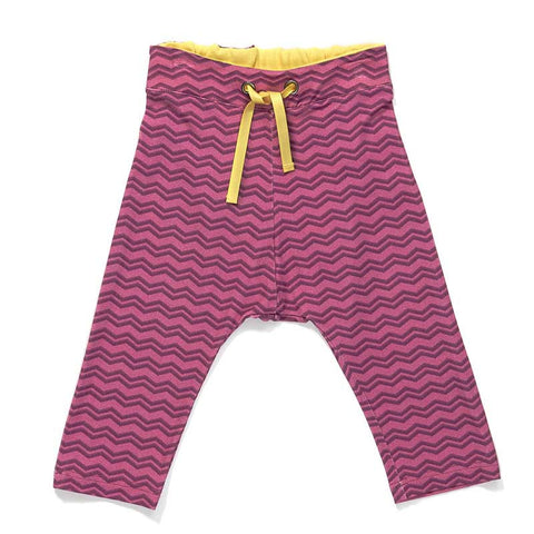 Albababy SS16 Gewis Purple Zig Zag Baby Pants at Yellow Lolly