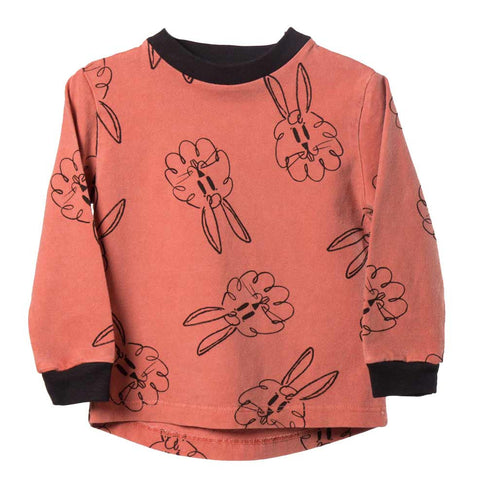 Bobo Choses All Over Bunnies Baby T Shirt - Yellow Lolly