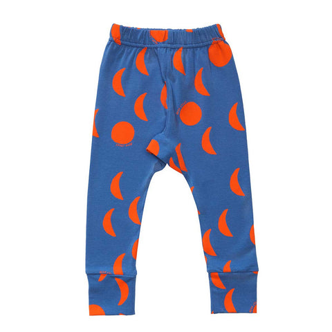 Beau Loves AW16 Red Moons, Blue Slim Baby Pants