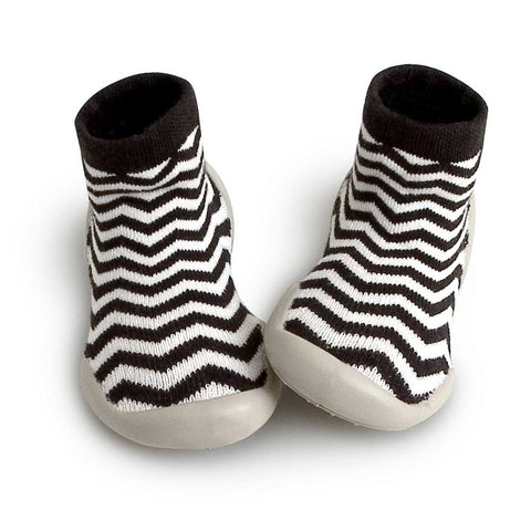Collegien monochrome Zig-Zag Kids Slipper Socks