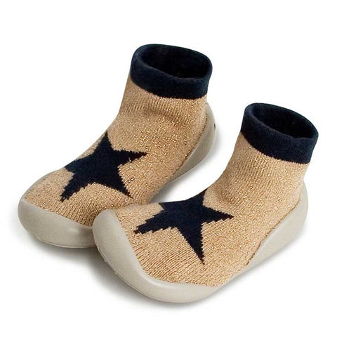 Collégien Gold Star Kids Slipper Socks at Yellow Lolly