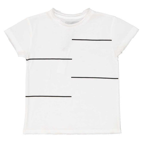 Jax & Hedley White Horizon T-Shirt at Yellow Lolly