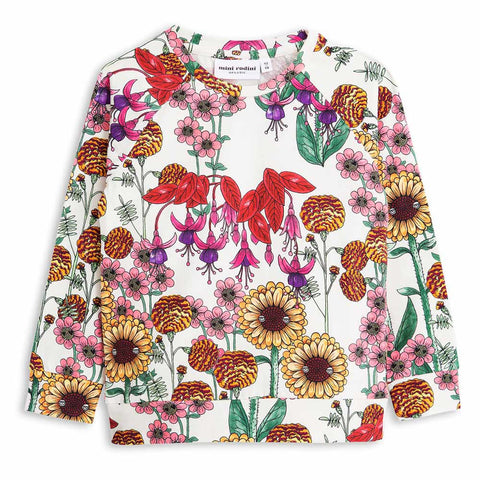 Mini Rodini Garden Long Sleeve Cuff Kid's Summer Tee at Yellow Lolly