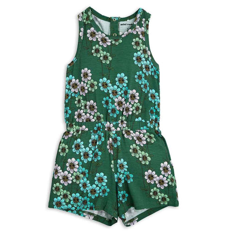 Mini Rodini SS17 Dark Green Daisy Child's Summer Suit